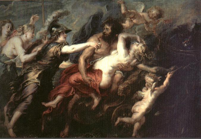 Hades y Persefóne - El rapto de Proserpina