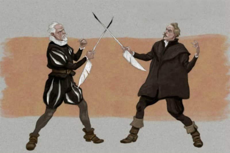 Cervantes y Lope duelo