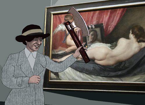 """Mary """"la acuchilladora"""": a hachazos contra obras de arte como protesta a favor de la igualdad"""