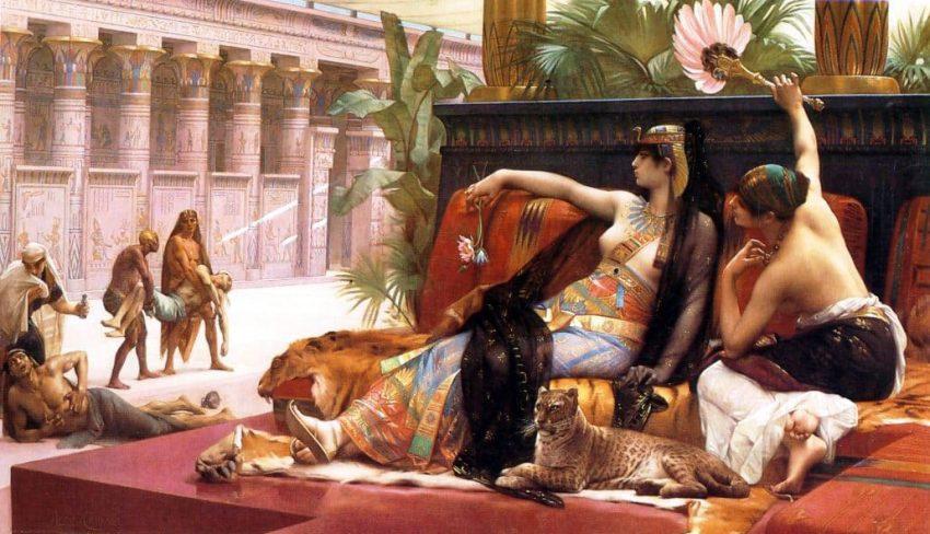 Amantes de Cleopatra faraona - Antiguo Egipto