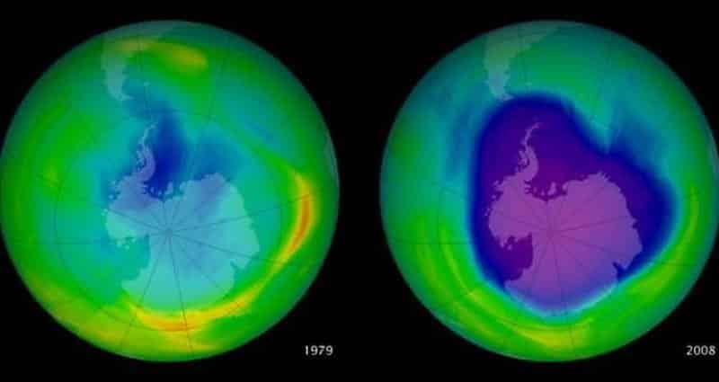 agujero en la capa de ozono