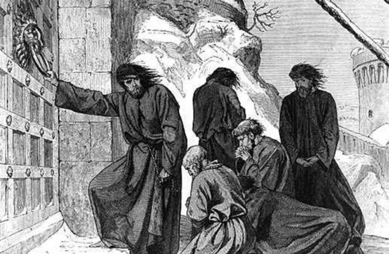 Cuando el emperador Enrique IV se bajó los pantalones delante del Papa en la Humillación de Canossa