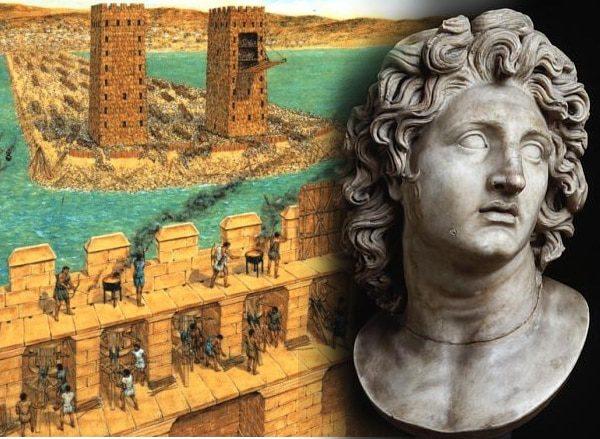 El sitio de Tiro por Alejandro Magno