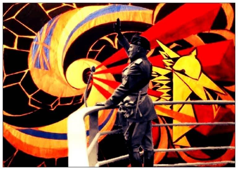 Los artistas del futurismo, relacionados con el fascismo italiano