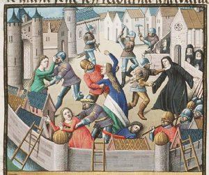 mujeres violadas en una toma de una ciudad como las llevadas a cabo por Barba Azul
