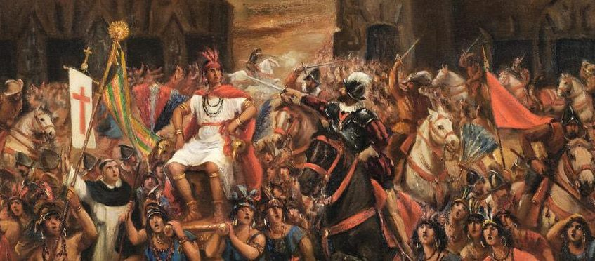 Atahualpa y Pizarro - Conquista de América