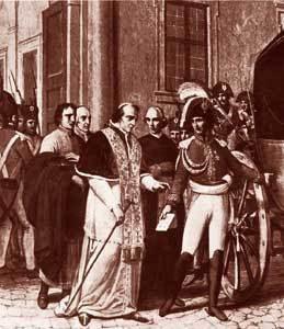 Detención del papa Pío VII por parte del emperador Napoleon Bonaparte