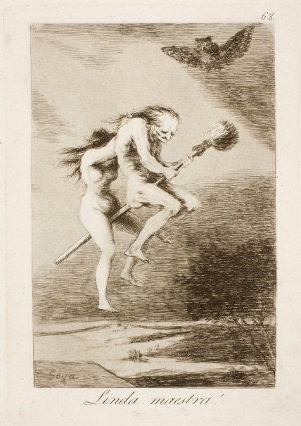 Capricho 68. Linda Maestra. 1793-96. Museo del Prado. Francisco de Goya