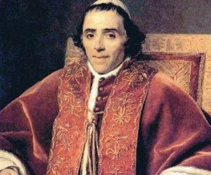 el papa Pío VII que enfrentó a Napoleón