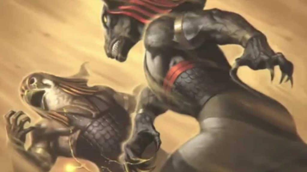 Lucha entre Horus, hijo de Osiris y Set