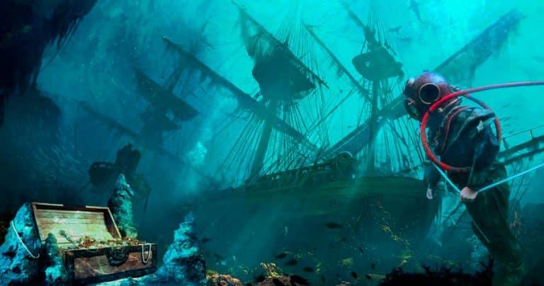 El buceo y la búsqueda de tesoros de naufragios en las Indias