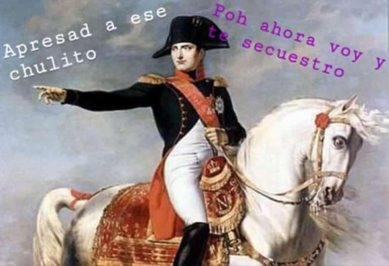 A Napoleón no le vacila ni Pío VII