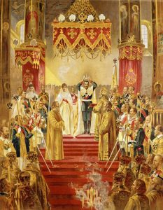 Coronación de Alejandra y Nicolás Románov como zares