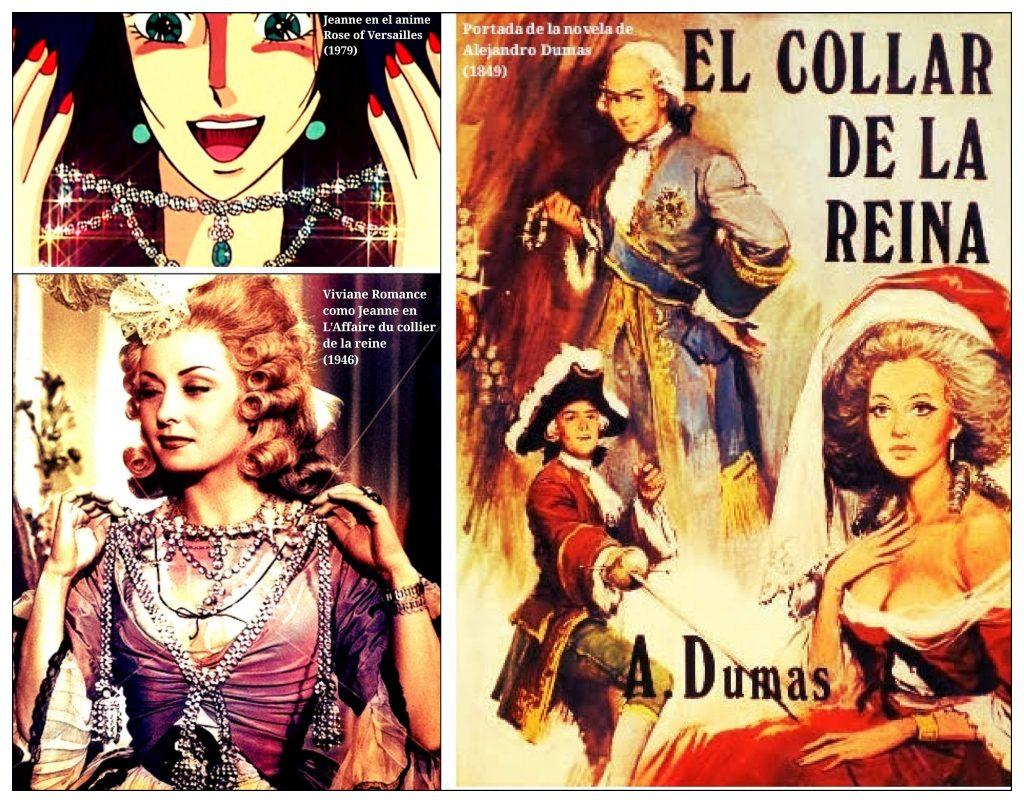 Anime Rose Of Versailles. Película L´Affaire du collier de la reine. Novela Alejandro Dumas El collar de la reina.