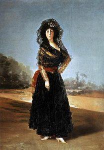 Duquesa de Alba vestida a la manera española, como las majas