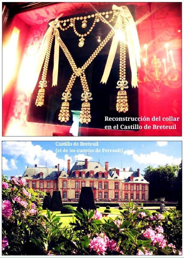 Reconstrucción del collar de la reina en el Castillo de Breteuil