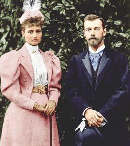 Alejandra y Nicolás Románov