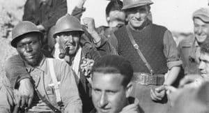 Batallón Lincoln compuesto por brigadistas internacionales americanos en la Guerra Civil Española