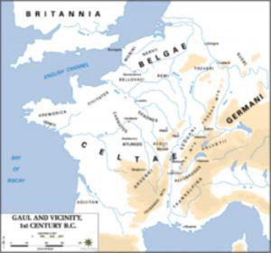 Mapa de la Galia