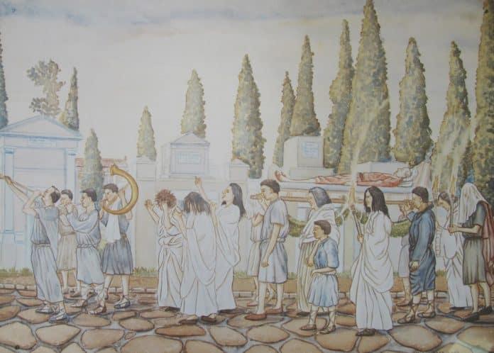 ritual romano defunción la necrópolis romana