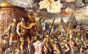 Batalla de puente Milvio con Constantino el Grande