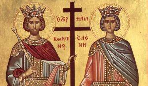 Constantino el Grande o Constantino I emperador de Roma y preotector de los cristianos
