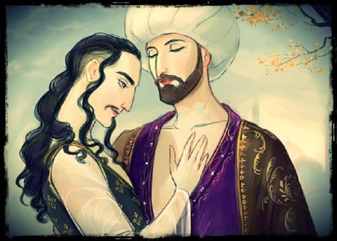 sultán Murad II y su amante el visir zaganos pasha