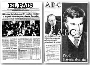 El País elecciones de 1982