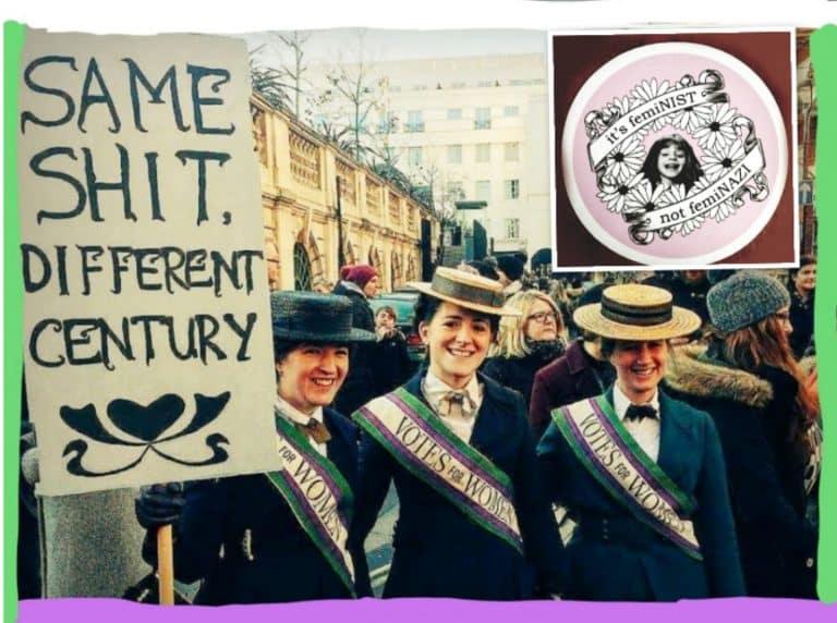 Las feminazis y las amazonas no existen; es el heteropatriarcado, insultando a la búsqueda de igualdad