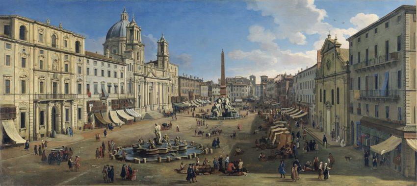 Plaza Navonna, destino del grand tour europeo, viaje por Europa en la Edad Moderna y Contemporánea