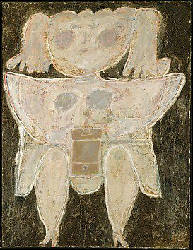 Woman grinding coffee. Jean Dubuffet Art Brut