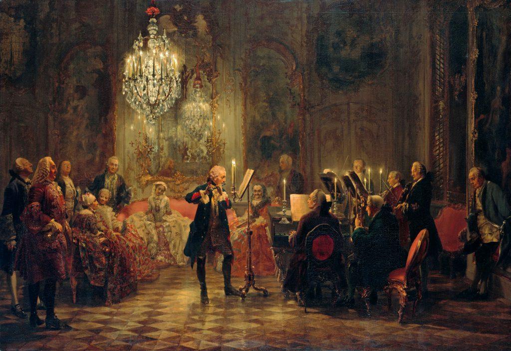 Federico II de Prusia tocando la flauta travesera