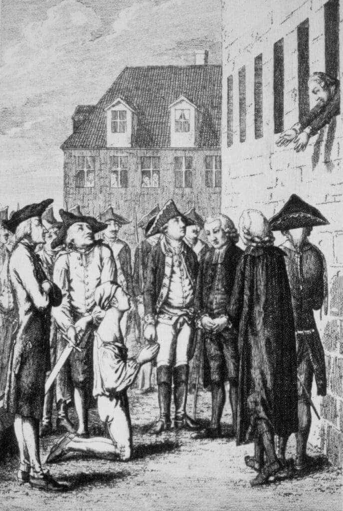 Detención Hans von Kitten y Federico II de Prusia
