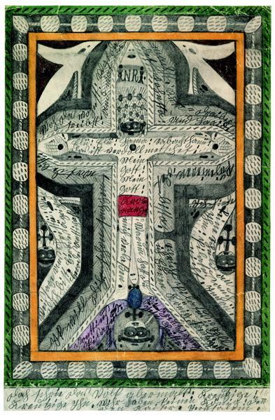 Art Brut. La crucifixión de Jesucristo. 1917. Adolf Wölfli