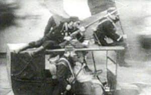 soldados en taxis camino del frente francés