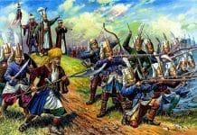 El sultán y sus esclavos de élite: los jenízaros.