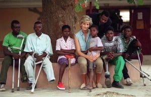 Lady Di, Diana Spencer, Diana de Gales, princesa de Gales en Angola