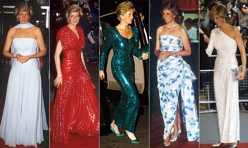 estilismos de Lady Di, Diana Spencer, Diana de Gales, princesa de Gales