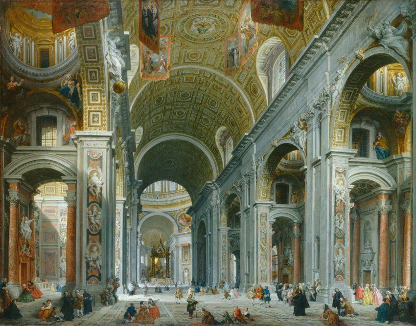 Basilica de san Pedro, destino del grand tour europeo, viaje por Europa en la Edad Moderna y Contemporánea