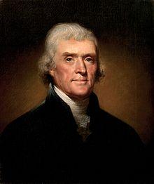 Thomas Jefferson, presidente de los Estados Unidos en las guerras napoleónicas
