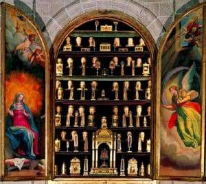 Reliquias sagradas de Felipe II en El Escorial