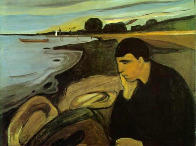 Los artistas tienen melancolía, los mortales simple tristeza