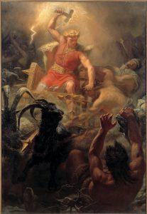 Thor y los gigantes en la mitología nórdica vikinga
