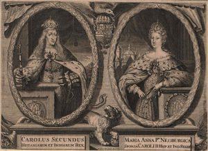 Carlos II y Mariana de Neoburgo