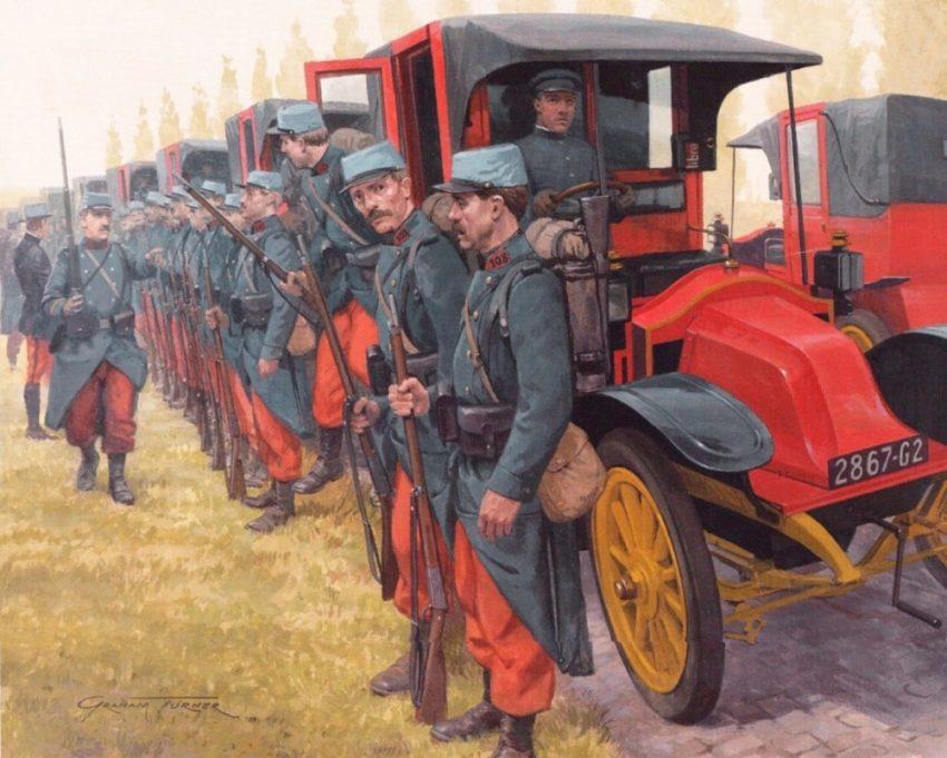 taxis en la primera guerra mundial