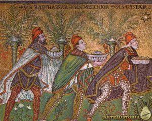 mosaico de los reyes magos
