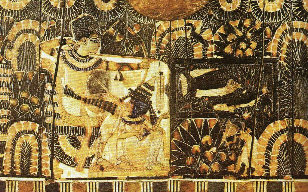 Tutankamón y Anjesenamón tumba tutankamon