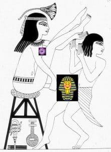 Ilustración del papiro erótico de Turín, sexo en el Antiguo Egipto