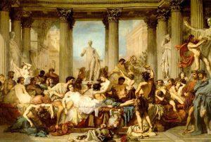 Saturnales, fiestas romanas en honor a Saturno, dios de las cosechas, celebradas en los meses de invierno. Origen del Día de los Inocentes