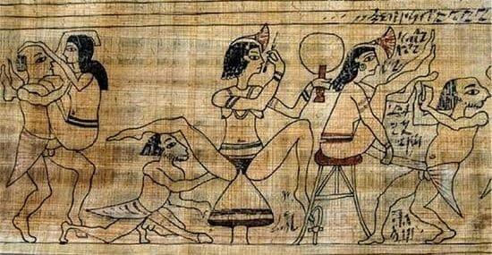 Escenas eróticas del Papiro de Turín, sexo en el Antiguo Egipto
